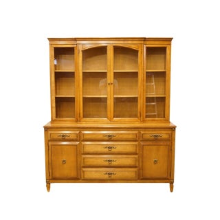 Rway Furniture Colonial Hard Rock Maple China Cabinet For Sale