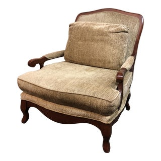Bernhardt Upholstered Bergere Arm Chair For Sale