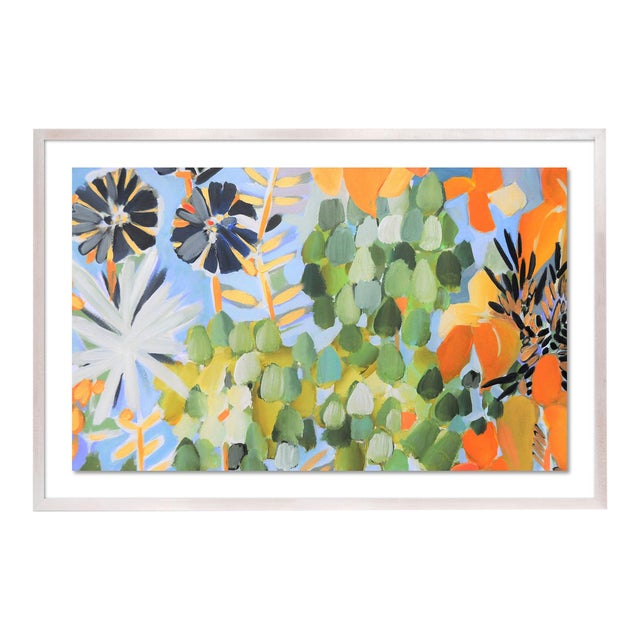 St Tropez 1 by Lulu DK in White Wash Framed Paper, Medium Art Print For Sale