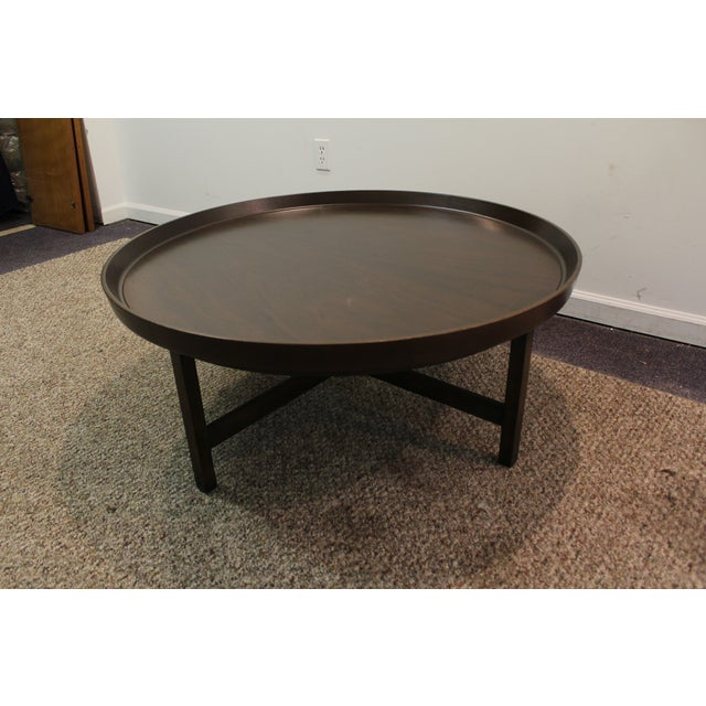Mid-Century Modern Baker Round Flared Coffee Table - Image 8 of 11