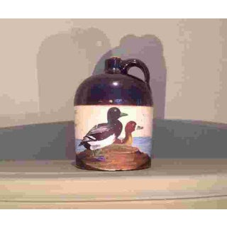 American Painted Glazed Pottery Whiskey Jug C.1910 Preview