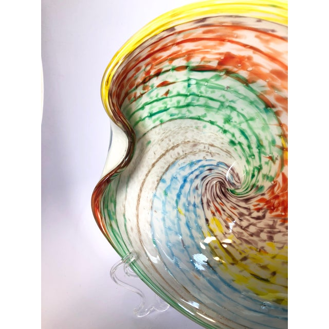 1960s Mid-Century Modern Murano Cased Glass Heart Shaped Bowl For Sale - Image 6 of 8