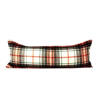 Red Plaid Modern Lumbar Pillow