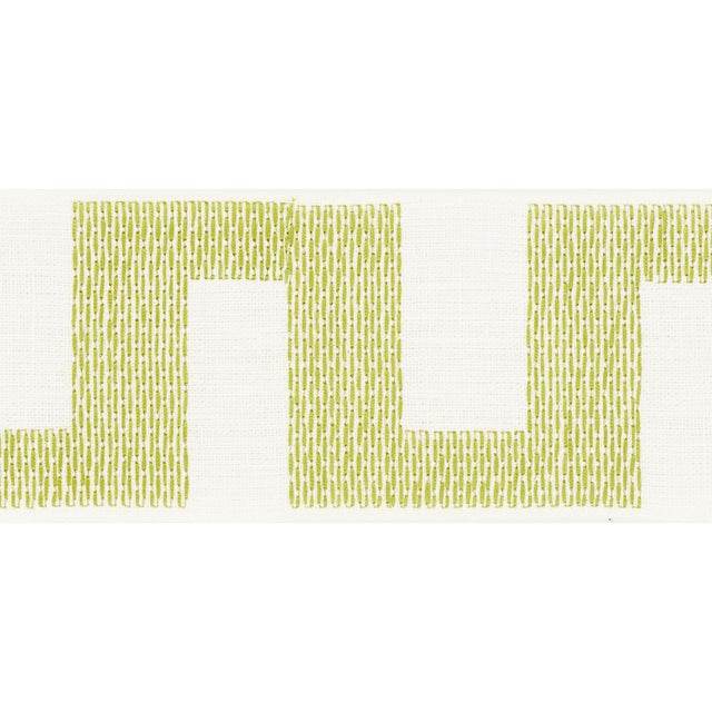 Contemporary Schumacher Matrix Tape Trim in Leaf For Sale - Image 3 of 3