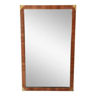 John Stuart Hollywood Regency Rosewood Framed Mirror For Sale