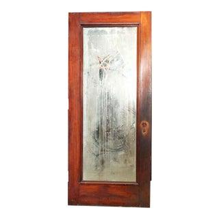Antique Mirrored Wooden Door
