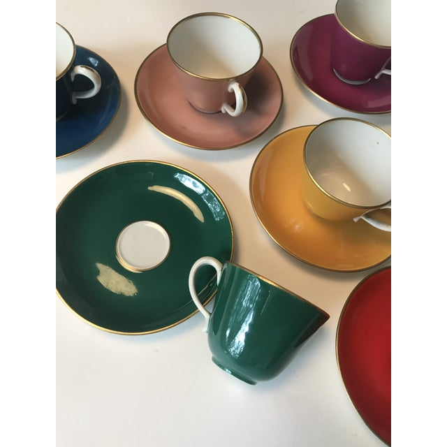Richard Ginori Mid Century Italian Richard Ginori Tea Cups/Demitasse Set - Set of Six, 12 Pieces For Sale - Image 4 of 13