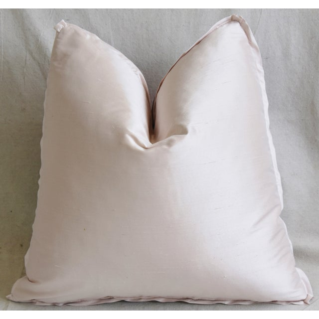 """Hazelton House Floral Bouquet Feather/Down Pillow 20"""" Square For Sale - Image 4 of 6"""