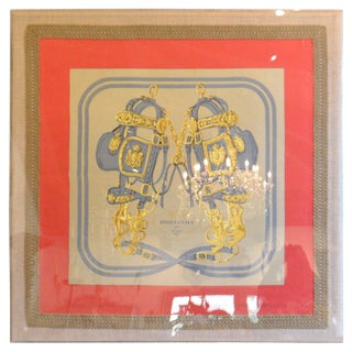 Framed Hermes Vintage Scarf For Sale