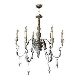 "Aidan Gray Rustic ""Charlemagne"" Chandelier For Sale"