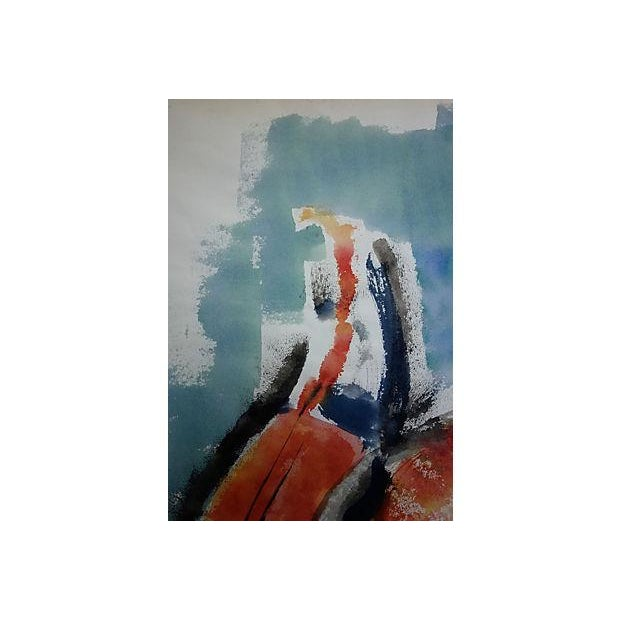 Andante Violin Watercolor Painting - Image 4 of 5