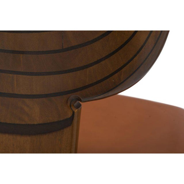 Africa Chairs by Afra and Tobia Scarpa With Cognac Leather Seating For Sale - Image 9 of 12