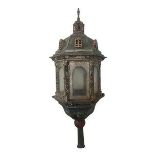 18th Century Continental - Possibly Venetian Painted Tole Lantern For Sale