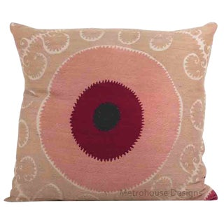 Extra Large Cotton Embroidered Gulkurpa Accent Pillow - Cover Only For Sale