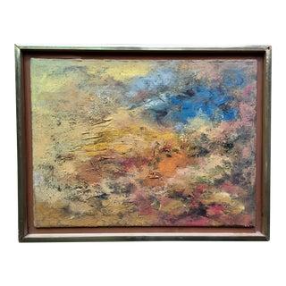 Original Oil Abstract Landscape Framed-1980's For Sale