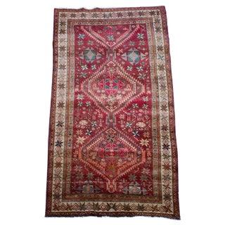 1940s Vintage Hand-Tied Persian Meshkin Floor Runner- 4′6″ × 9′ For Sale