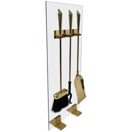Image of Brass Fireplace Tools and Sets