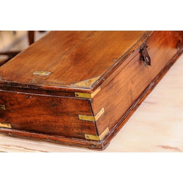 Brass Oak box For Sale - Image 7 of 8