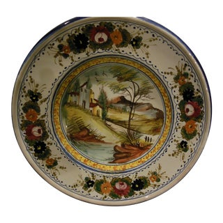 Multicolor Giotto Deruta Hand Painted Plate For Sale