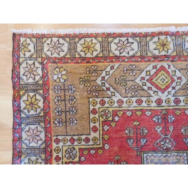 Traditional Vintage Turkish Oushak Rug - 4′ × 6′ For Sale - Image 3 of 5