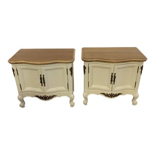 Refinished Vintage French Provincial Side Tables or Nightstands - a Pair For Sale