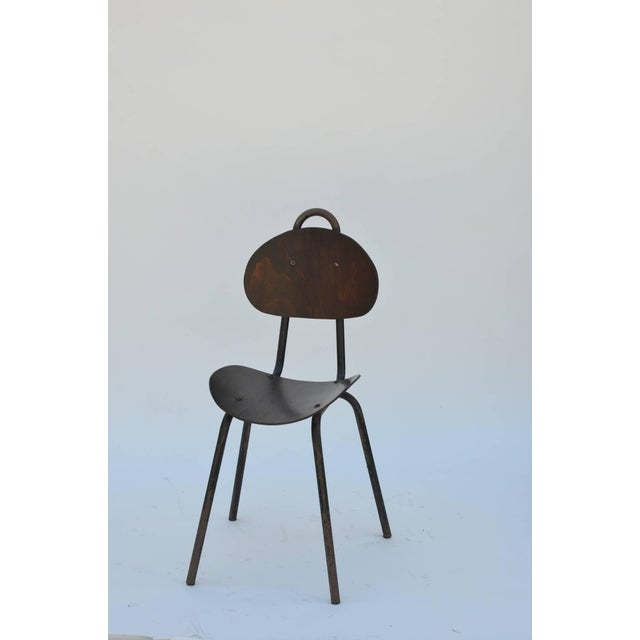 Industrial Pair of Unique French Industrial Bentwood Side Chairs For Sale - Image 3 of 10