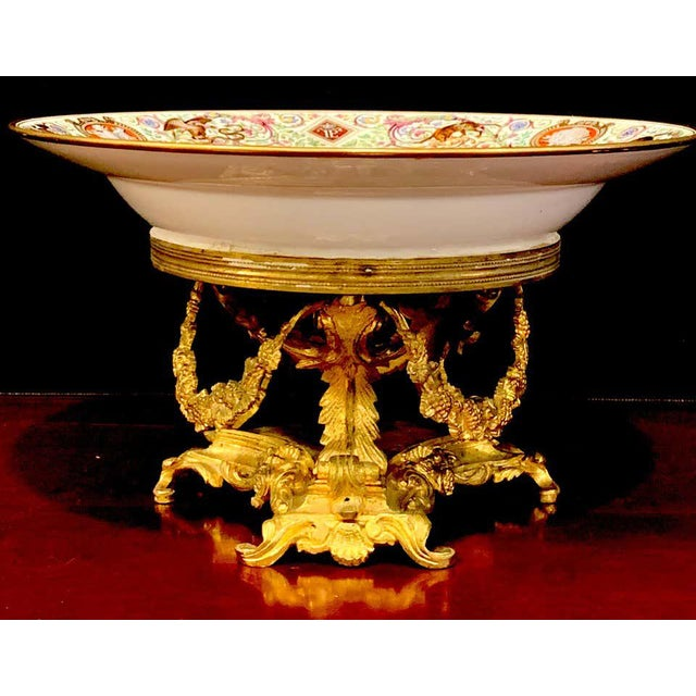 Sevres Porcelain Ormolu Tazza, From the Hunting Service of King Louis Philippe For Sale - Image 11 of 12