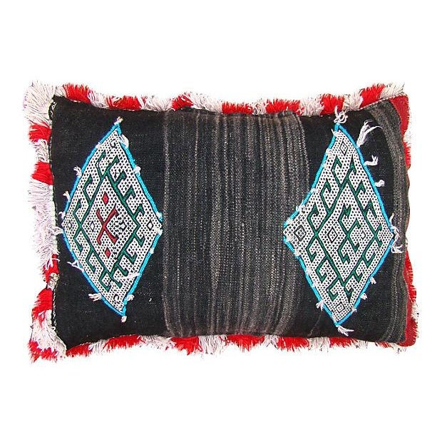 Blue Diamonds Berber Pillow For Sale