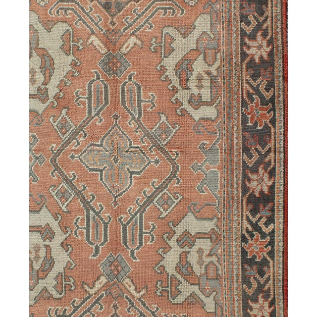 Keivan Woven Arts, F-0912, Early 20th Century Antique Turkish Oushak Rug - 5′3″ × 7′10″ For Sale - Image 4 of 8