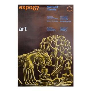 1967 Vintage Montreal Poster, Expo 67 Art (Buddha)