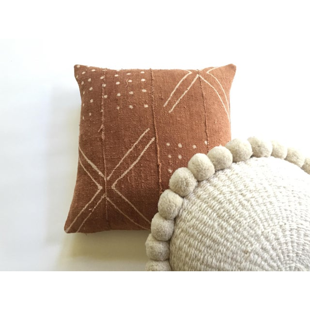 African Mudcloth Rust Pillow Cover - Image 6 of 7