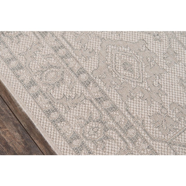 "Traditional Erin Gates Downeast Boothbay Grey Machine Made Polypropylene Area Rug 6'7"" X 9'6"" For Sale - Image 3 of 10"