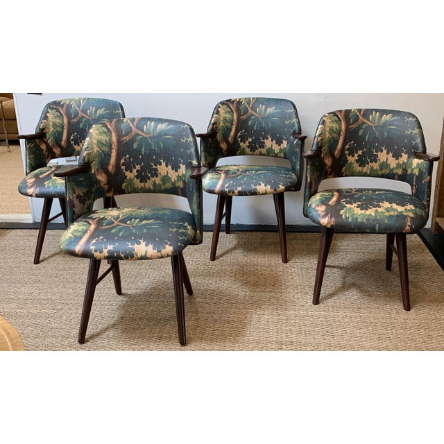 Restored 1960s Vintage Cees Braakman for Pastoe Dining Chairs - Set of 4 For Sale - Image 11 of 11