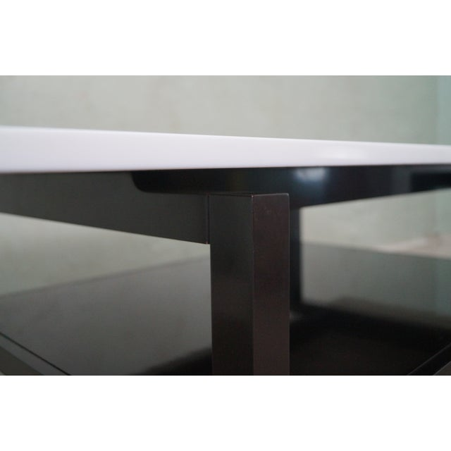 Mid Century Lacquer Base Console Table For Sale In Philadelphia - Image 6 of 10
