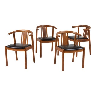 Set of 4 Danish Mid-Century Modern-style Dining Chairs