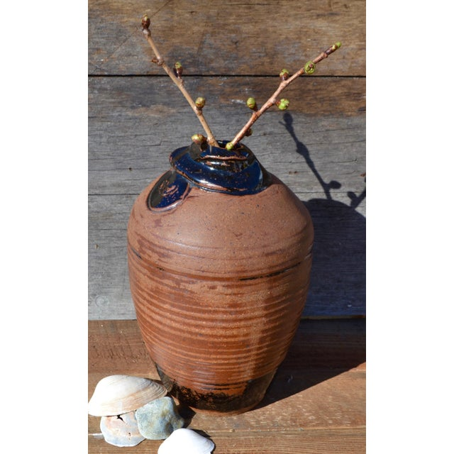 Vintage Hand Thrown Terra Cotta Pottery Vase - Image 5 of 6