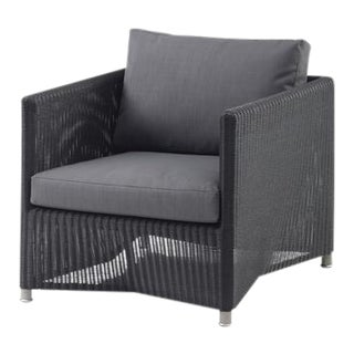Cane-Line Diamond Lounge Chair, Graphite For Sale