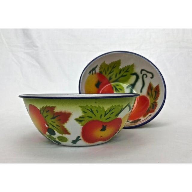 1960s Enamel Kitchen Accessories - Set of 5 For Sale - Image 9 of 10