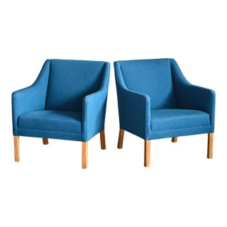 Pair of Danish Midcentury Lounge Chairs Attributed to Ejnar Larsen & Axel Bender For Sale