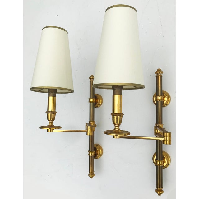 1960s 1960s Maison Jansen Swing Arms Sconces - a Pair, 2 Pairs Available For Sale - Image 5 of 7