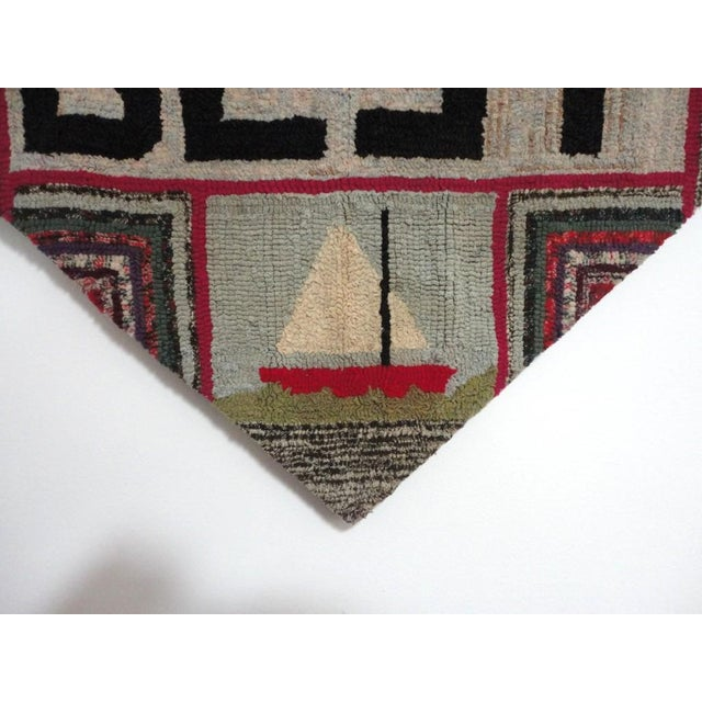 """Hand-Hooked Rug on Mounted Frame """"EAST WEST HOME'S BEST"""" - Image 5 of 7"""