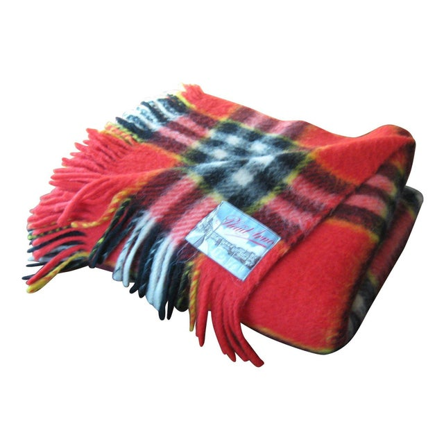 Red Plaid Arno Wool Camp Blanket - Image 1 of 6
