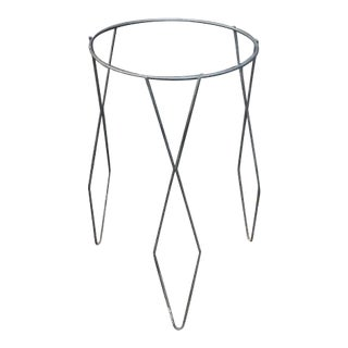 Mid Century Black Metal Plant Stand For Sale