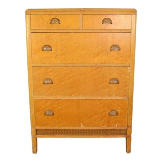 19th Century Traditional Maple Highboy Dresser For Sale