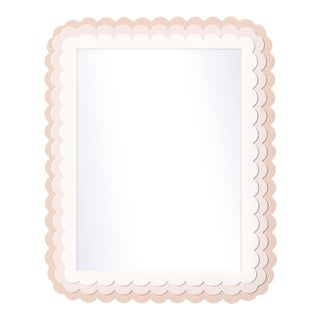 Fleur Home x Chairish Carnival Krewe Rectangle Mirror in Pink Ground, 30x40 For Sale