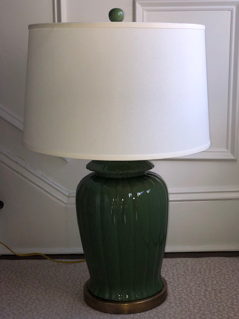 Currey And Company Emerald Green Crackle Table Lamp Chairish