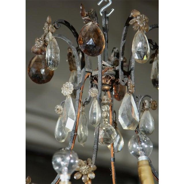 Jansen Bronze and Crystal Chandelier - Image 6 of 6