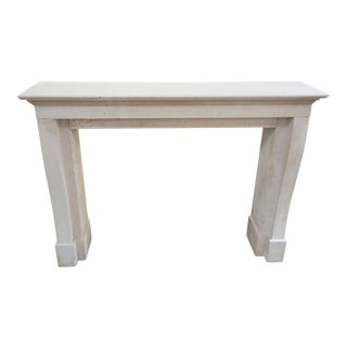 Modern French Limestone Fireplace For Sale