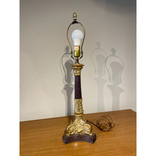 French Empire Style Table Lamp For Sale - Image 4 of 6