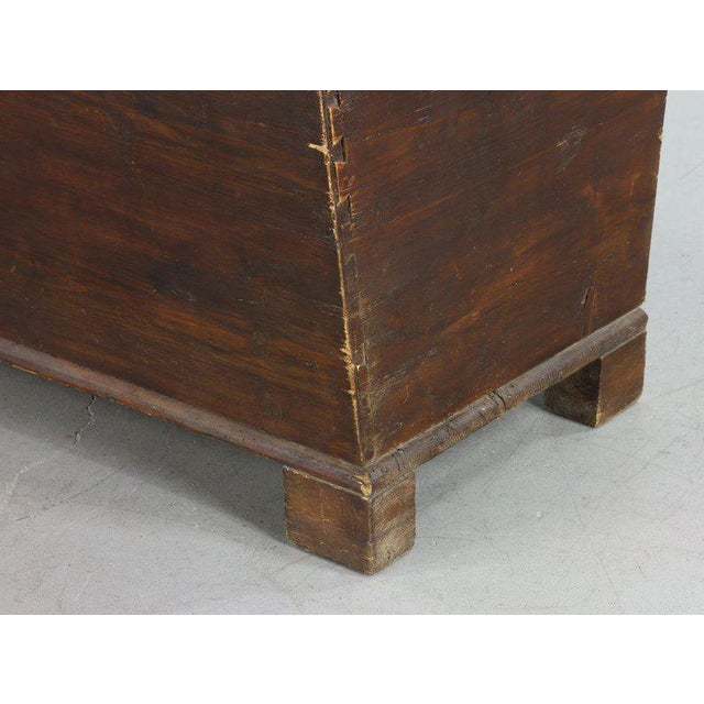 Early 19th Century 19th Century Primitive Dome-Top Coffin Chest For Sale - Image 5 of 9